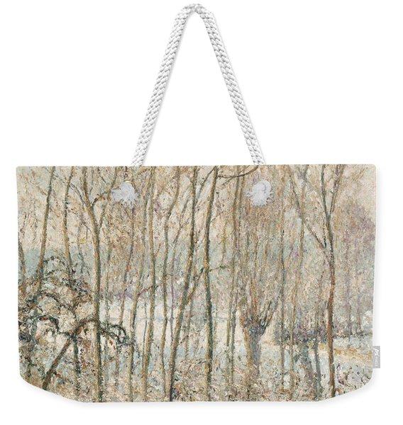 Morning Sunlight On The Snow Eragny Sur Epte Weekender Tote Bag