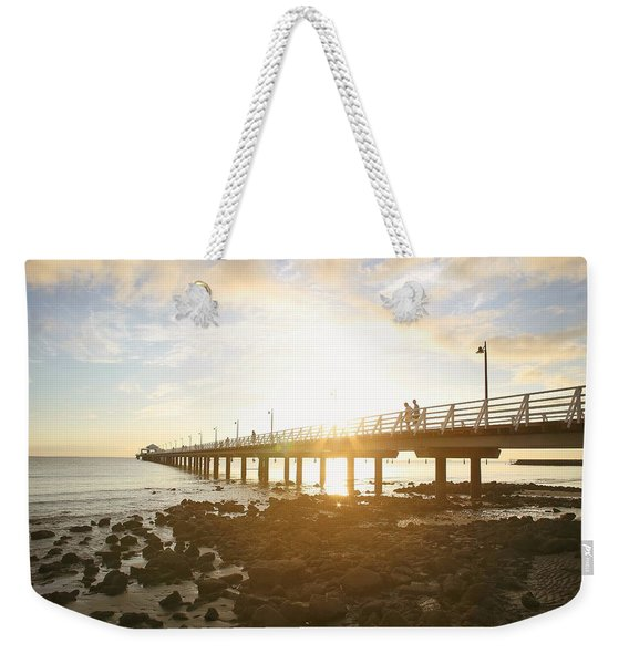 Morning Sunshine At The Pier  Weekender Tote Bag