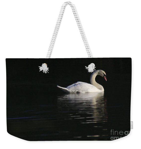 Weekender Tote Bag featuring the photograph Morning Swan by Jeremy Hayden