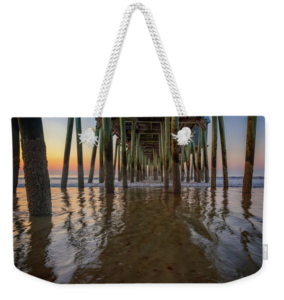 Morning Under The Pier, Old Orchard Beach Weekender Tote Bag