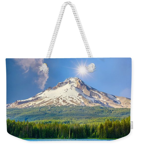 Morning View Of The Mt Hood Weekender Tote Bag