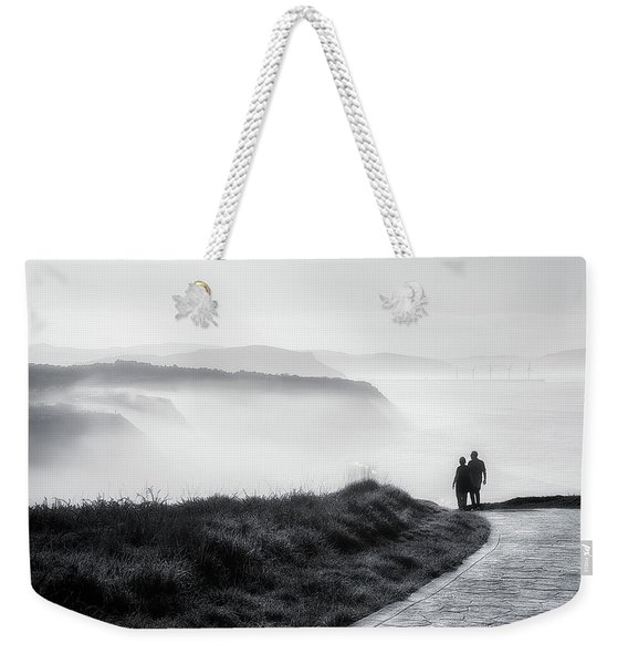 Morning Walk With Sea Mist Weekender Tote Bag