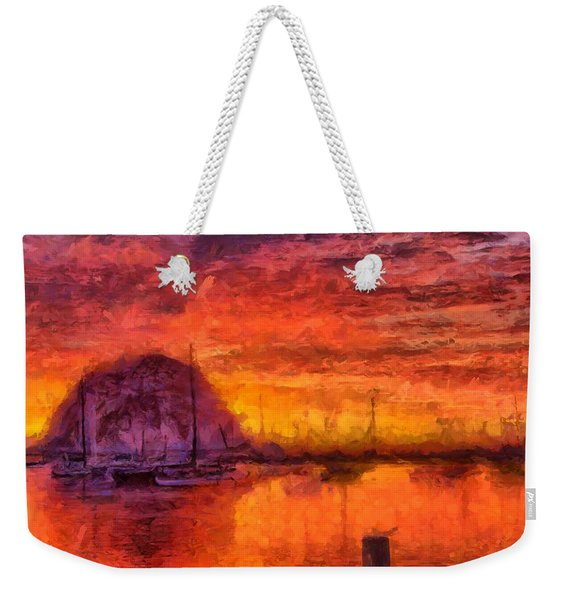 Morro Bay Marina Weekender Tote Bag