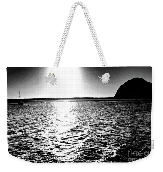 Morro Rock, Black And White Weekender Tote Bag