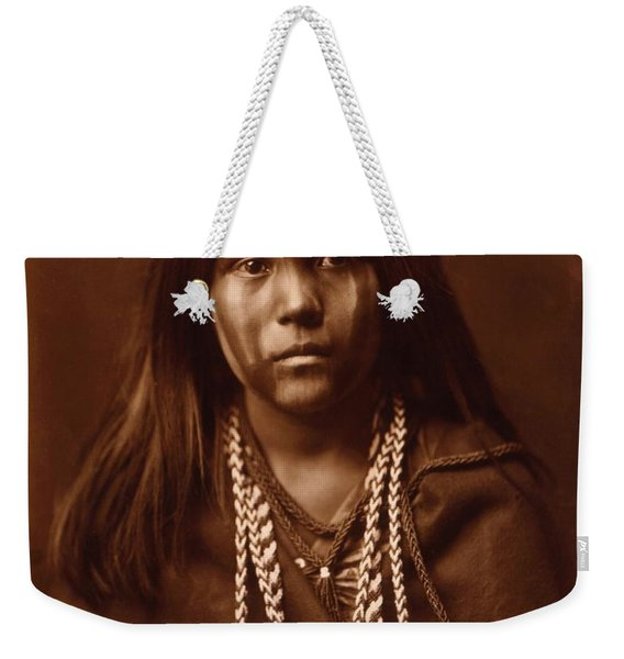 Mosa, Mohave Girl, By Edward S. Curtis, 1903 Weekender Tote Bag