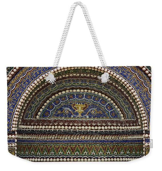 Mosaic And Shell Fountain Getty Villa Malibu California Weekender Tote Bag