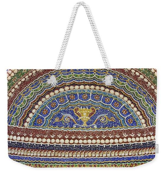 Mosaic Fountain Detail 4 Weekender Tote Bag