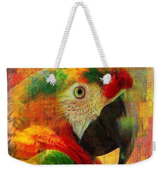 Mosaic Macaw 2016 Weekender Tote Bag