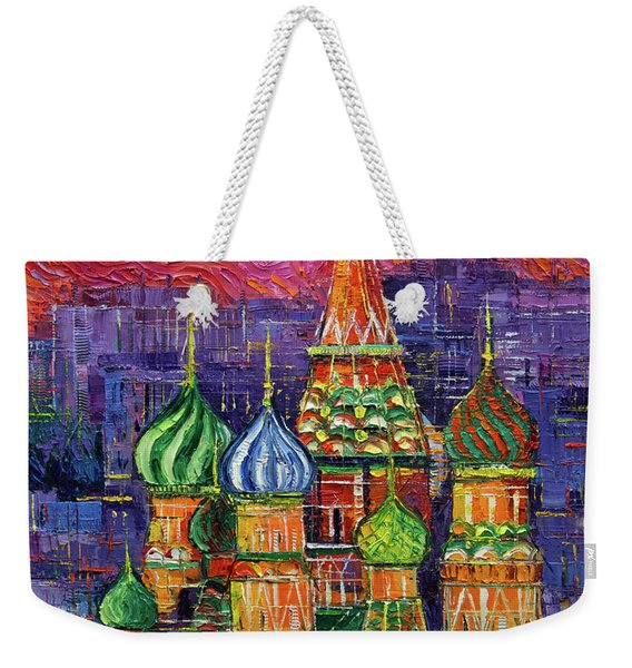 Moscow Saint Basil's Cathedral Weekender Tote Bag
