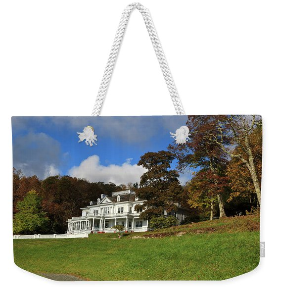 Moses Cone Flat Top Manor Weekender Tote Bag