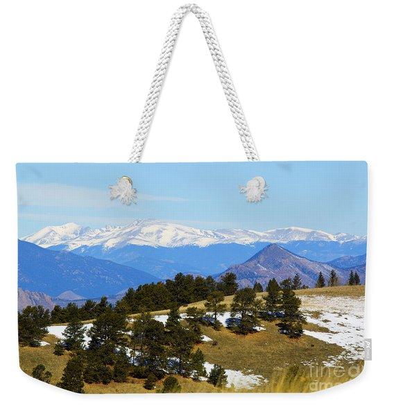 Mosquito Range Mountains Weekender Tote Bag