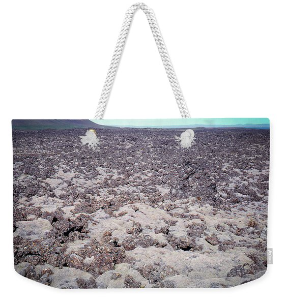 Moss-covered Lava Flow, Iceland Weekender Tote Bag