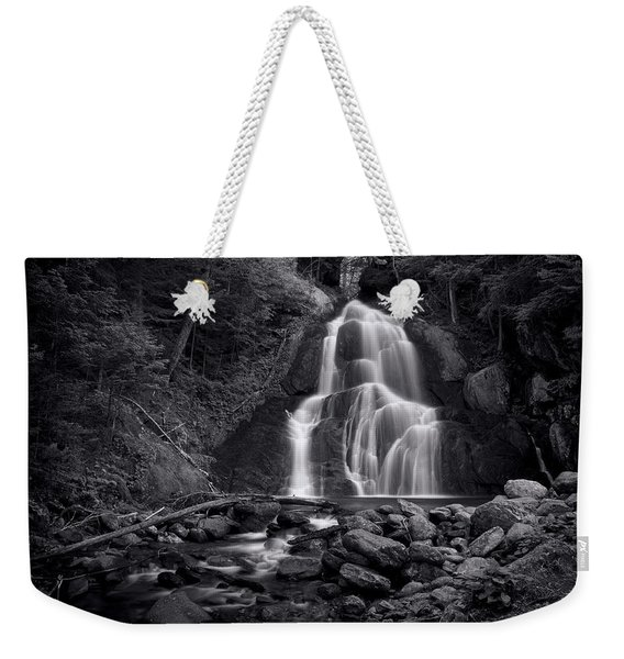 Moss Glen Falls - Monochrome Weekender Tote Bag