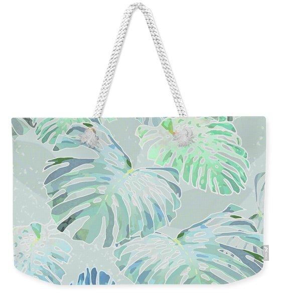 Mossy Faded Monstera Weekender Tote Bag