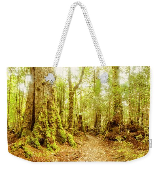 Mossy Forest Trails Weekender Tote Bag