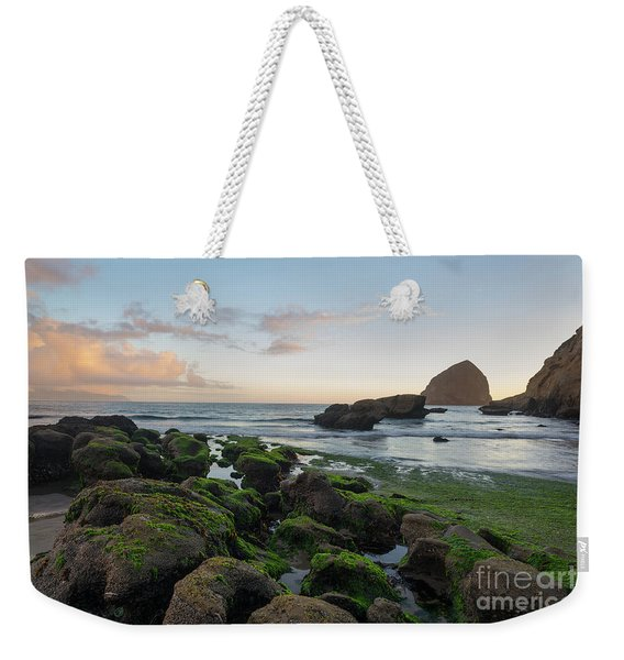 Mossy Rocks At The Beach Weekender Tote Bag
