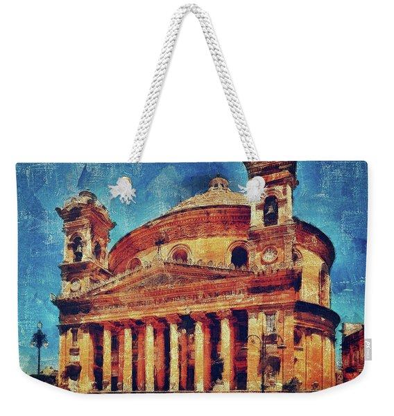 Mosta Church Weekender Tote Bag