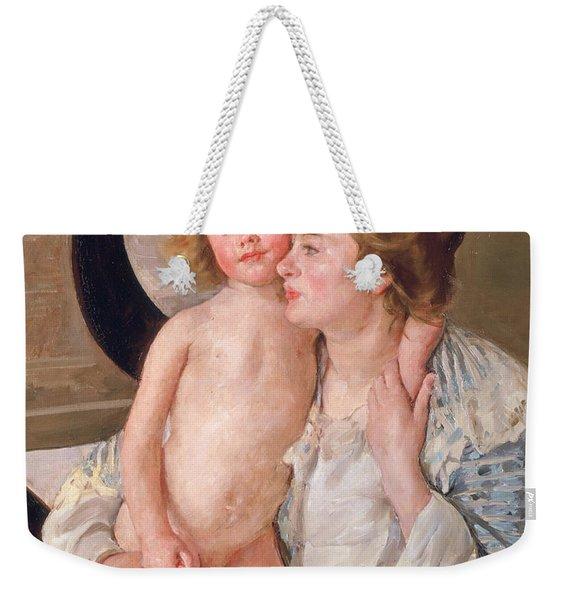 Mother And Boy Weekender Tote Bag