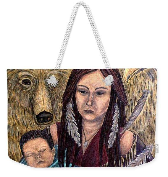Motherhood-guardian Spirits Weekender Tote Bag