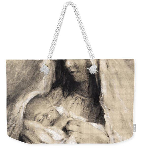 Motherhood Weekender Tote Bag