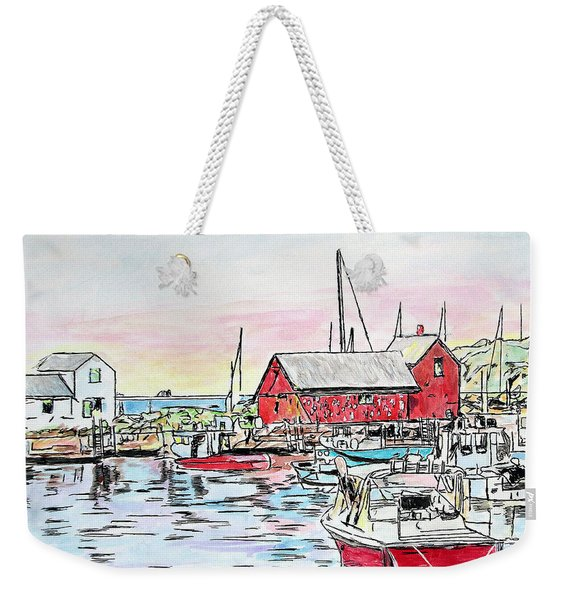 Motif #1 Rockport, Massachusetts Weekender Tote Bag
