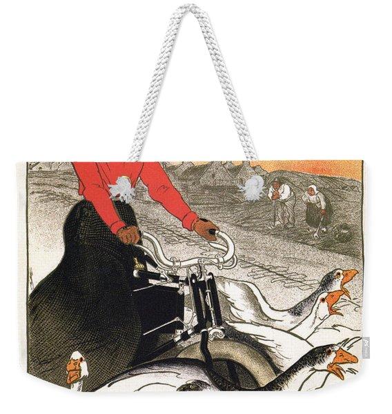 Motocycles Comiot - Paris - Vintage Advertising Poster Weekender Tote Bag