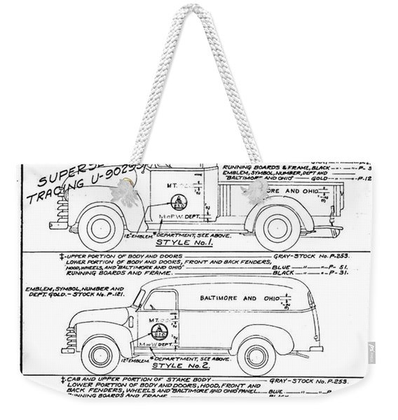 Motor Vehicles Weekender Tote Bag