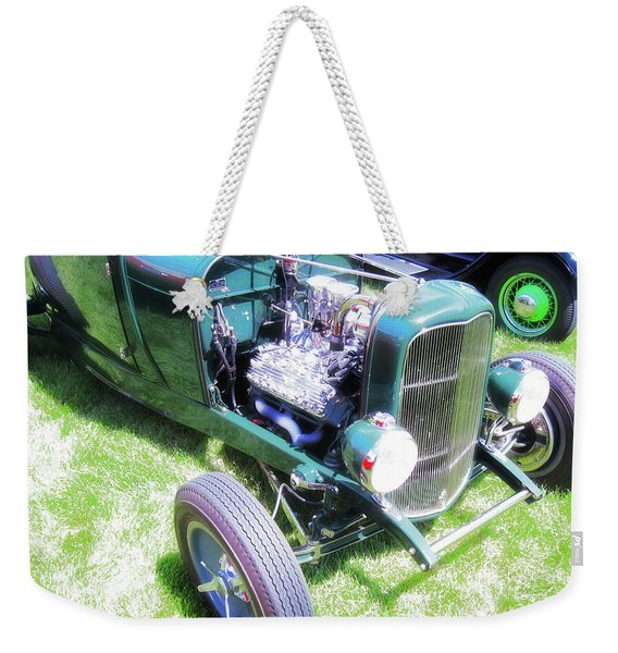Motor Wheel Weekender Tote Bag