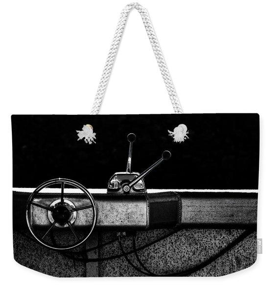 Motorboat Black And White Weekender Tote Bag