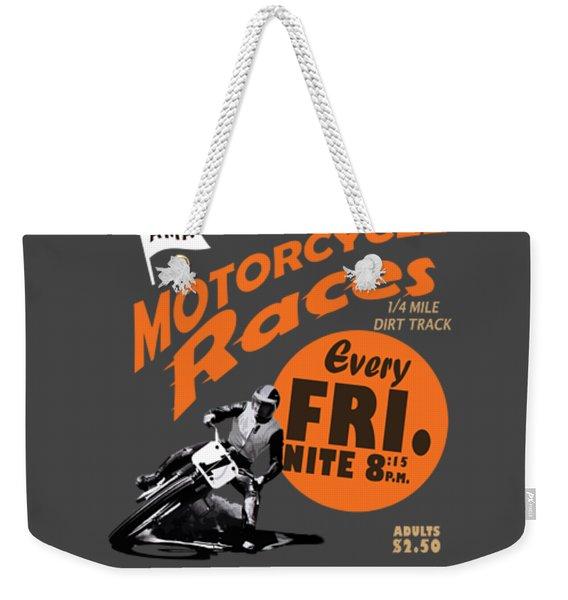 Motorcycle Speedway Races Weekender Tote Bag
