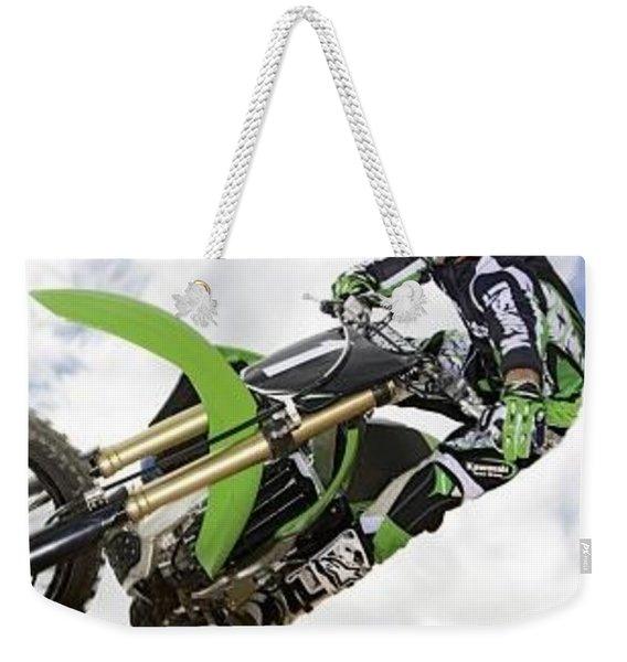 Motorcycle Trick Jump Extreme Sky Clouds 2850 300x360 Weekender Tote Bag