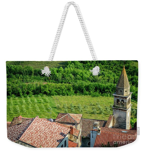 Motovun Istrian Hill Town - A View From The Ramparts, Istria, Croatia Weekender Tote Bag