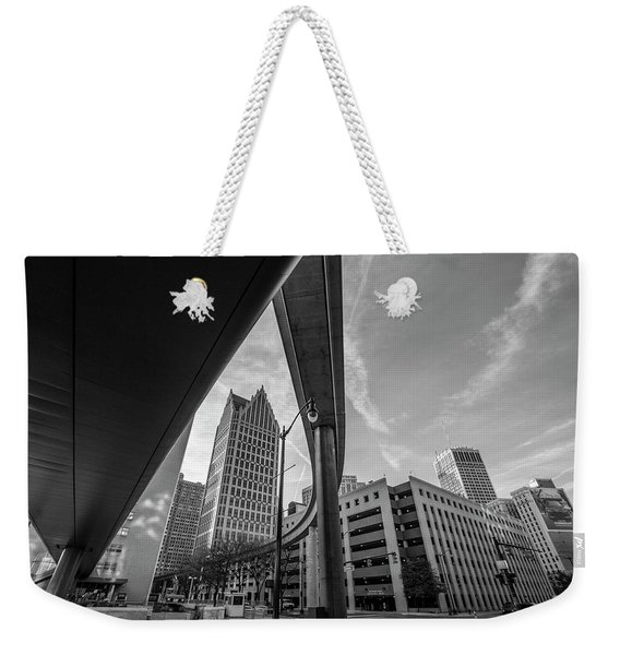 Motown And The People Mover Weekender Tote Bag