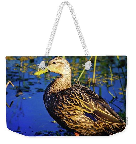 Mottled Duck Weekender Tote Bag