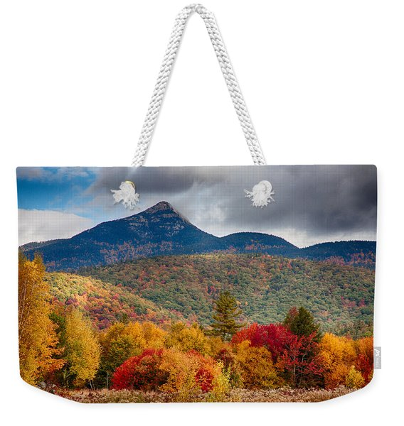 Weekender Tote Bag featuring the photograph Peak Fall Colors On Mount Chocorua by Jeff Folger