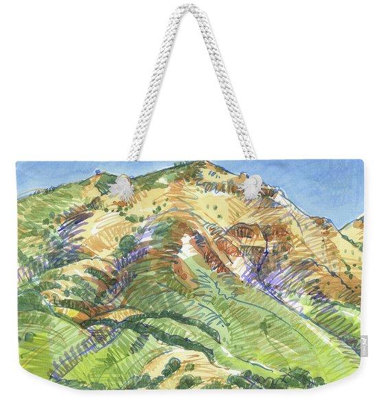 Mount Diablo From Curry Valley Ridge Weekender Tote Bag