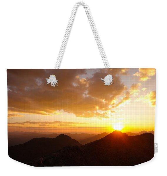 Mount Evans Sunset Weekender Tote Bag