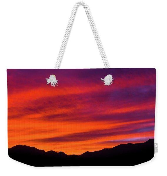 Mount Franklin Purple Sunset Weekender Tote Bag