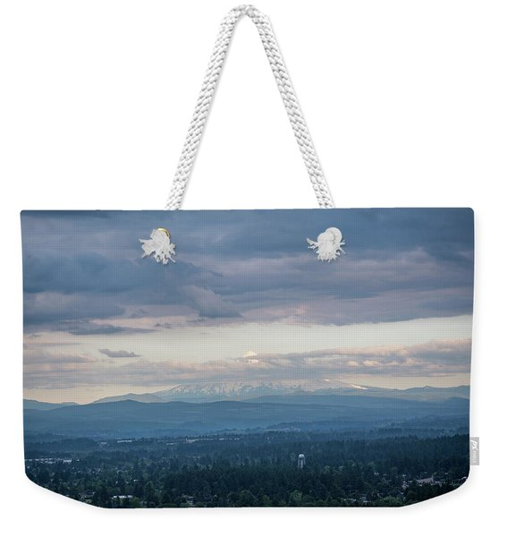 Mount Hood At Dusk Weekender Tote Bag