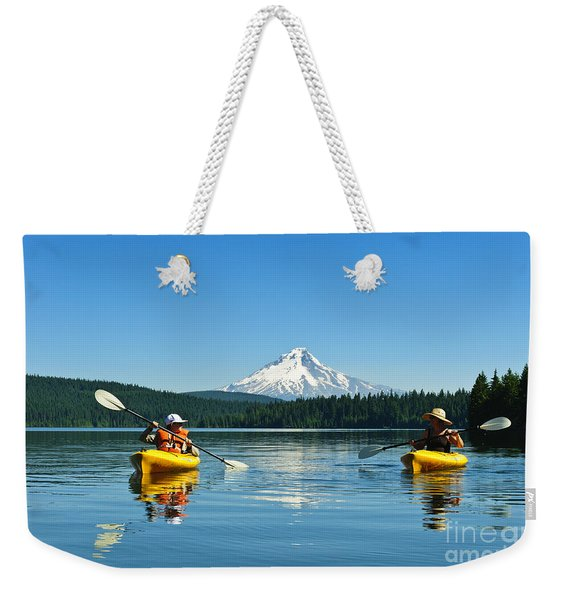 Mount Hood Kayakers Weekender Tote Bag