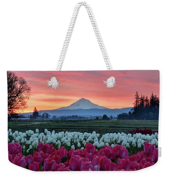 Mount Hood Sunrise Weekender Tote Bag