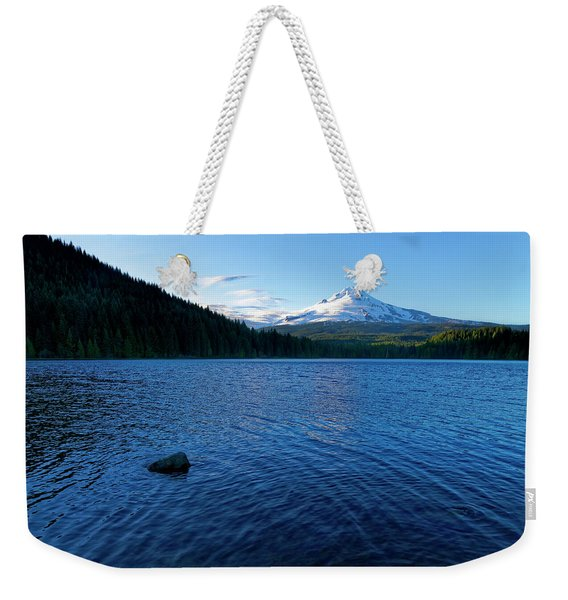 Mount Hood View Weekender Tote Bag