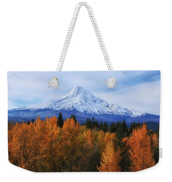 Mount Hood With Fall Colors  Weekender Tote Bag