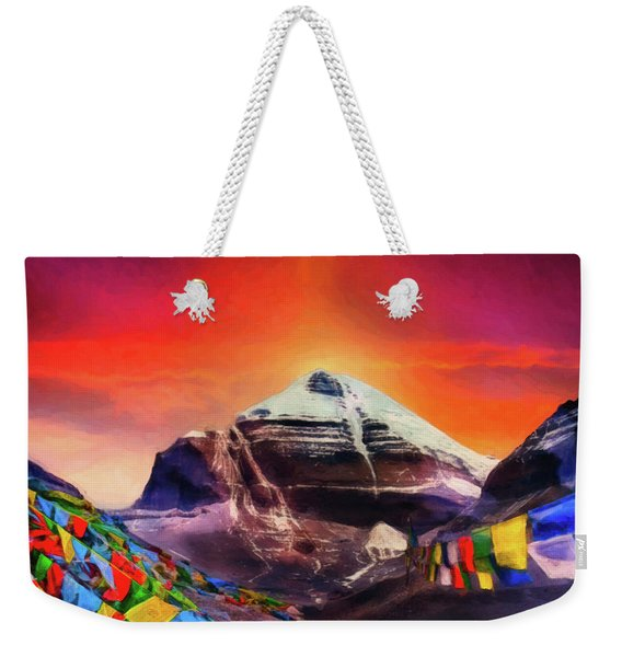 Mount Kailash - The Pillar Of The World Weekender Tote Bag