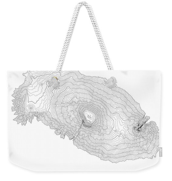 Mount Kilimanjaro Art Print Contour Map Of Mount Kilimanjaro In  Weekender Tote Bag