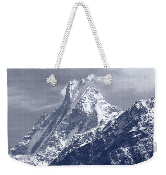 Mount Machapuchare, The Himalayas, Nepal Weekender Tote Bag