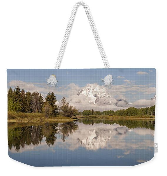 Mount Moran On Oxbow Bend Panorama Weekender Tote Bag