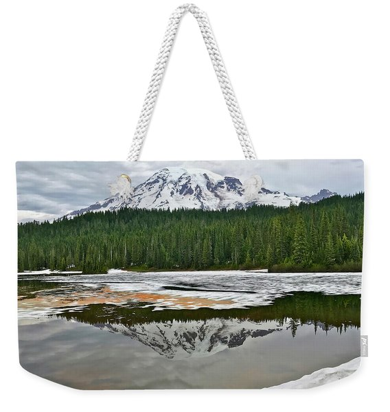 Mount Rainier From Reflection Lakes Weekender Tote Bag