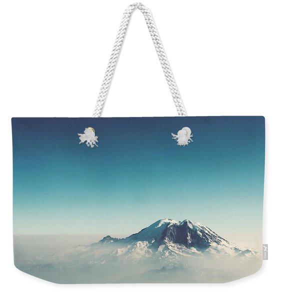 An Aerial View Of Mount Rainier Weekender Tote Bag