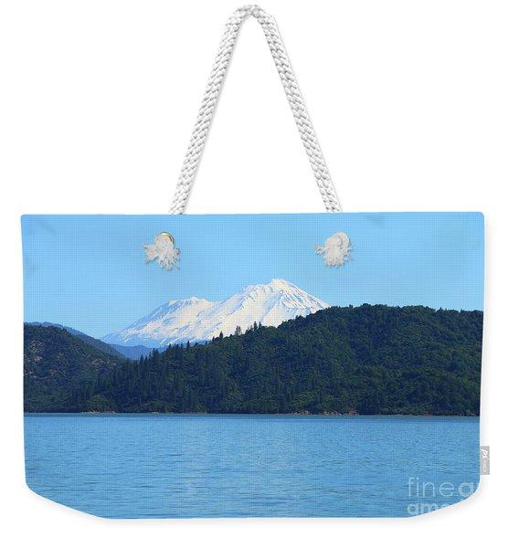 Mount Shasta And Shasta Lake Weekender Tote Bag